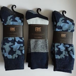 FRYE Half cushion crew socks 3-packs 6 pairs